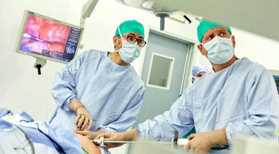 Laparoscopia extracción de riñón